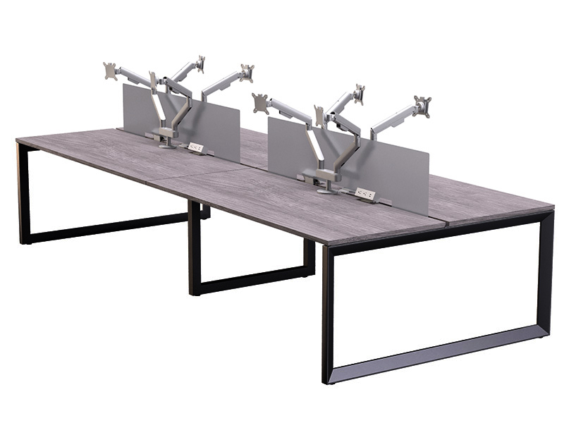 Pivit Benching (Grey Ash/Black) | Dual Monitor Arms