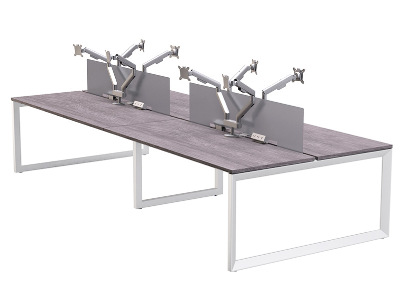 Pivit Benching (Grey Ash/White) | Dual Monitor Arms