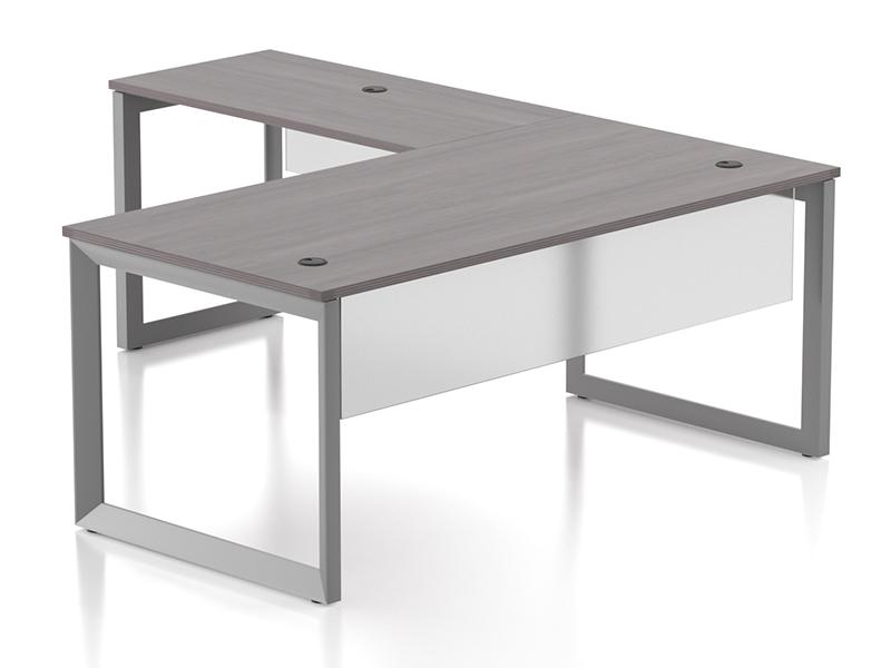 Pivit Open Frame Desking (Grey Ash)