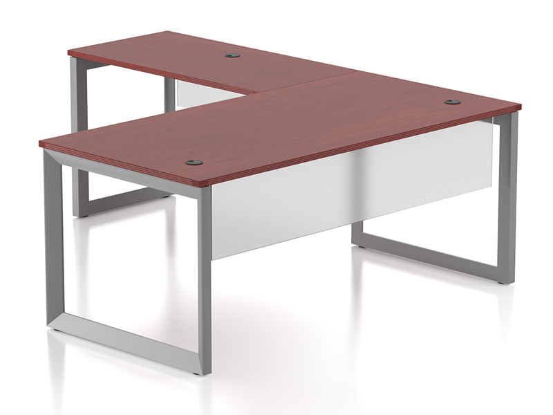 Pivit Open Frame Desking (American Cherry)