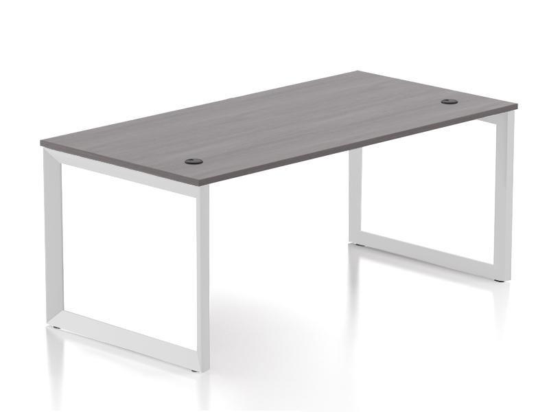 Pivit Open Frame Desk (Grey Ash/Black Base)