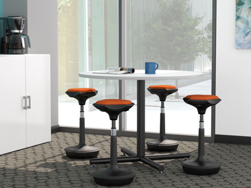 Pogo Stools (Flexi Orange)   Geo Table