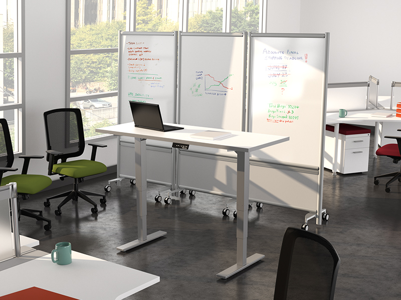 Relay Whiteboard | HiLo Height Adjustable Table
