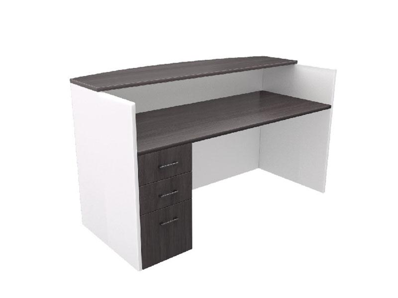 Pivit Reception Table (Grey Ash Top/White Base)