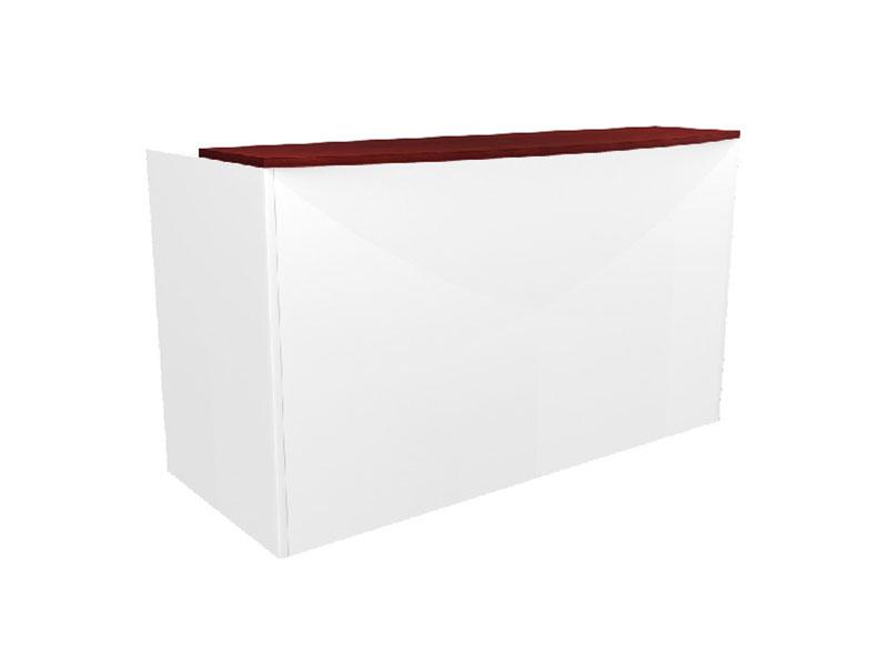 Pivit Reception Table (American Cherry Top/White Base)