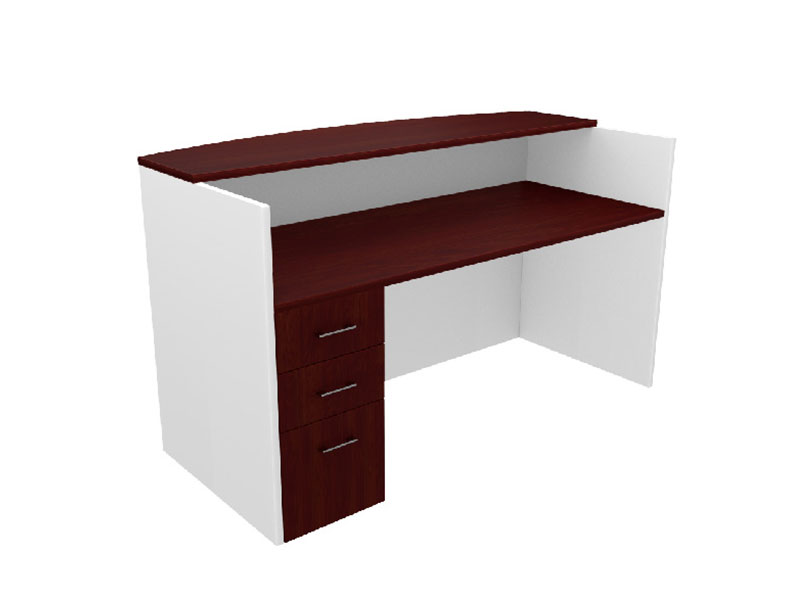 Pivit Reception Table (American Cherry Top/White Base)