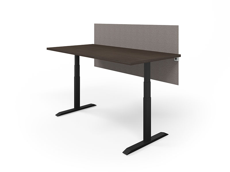 Universal Clamp-on Screen (Bangle Granite)   HiLo Table (Café/Black Base)