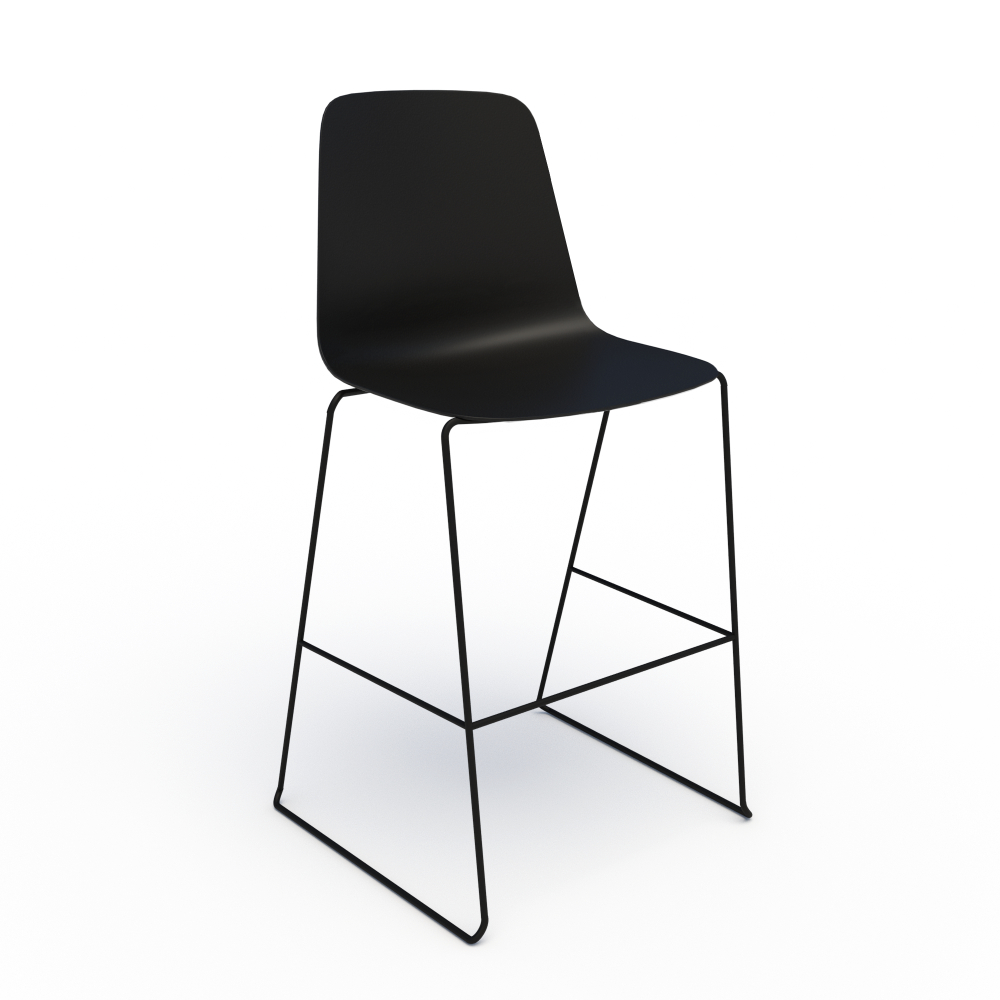 Sofie in Black with Black Stool Base