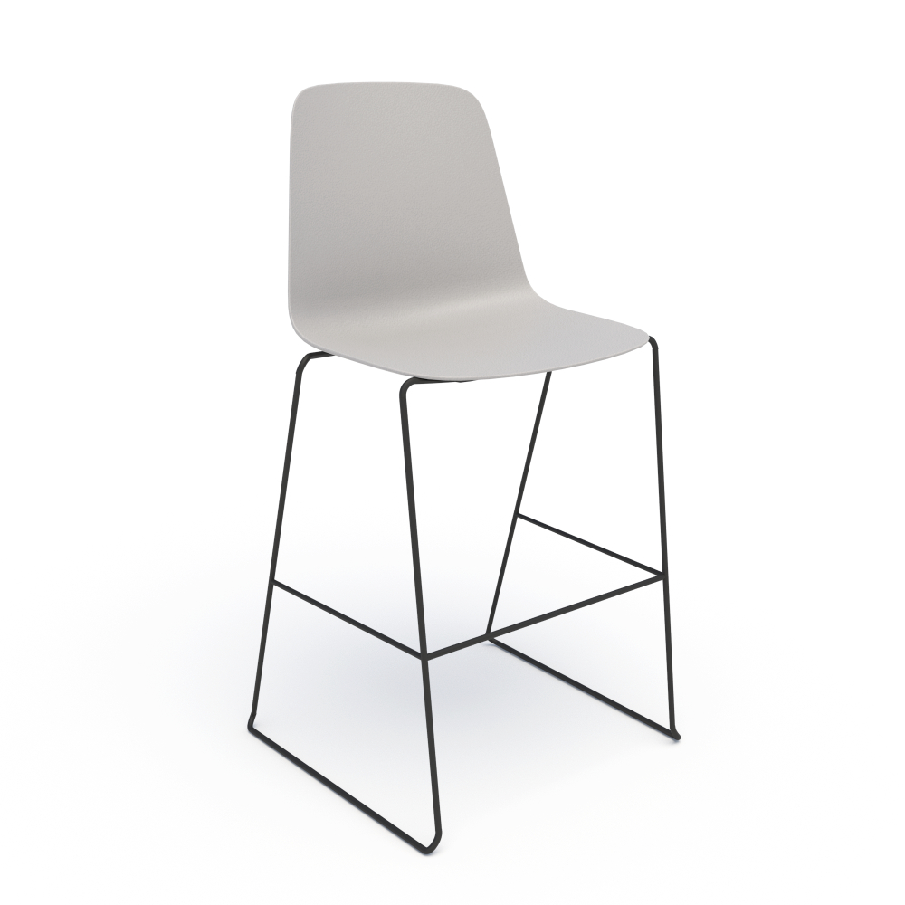 Sofie in Grey with Black Stool Base