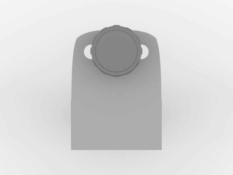 Worksurface Mount Bracket | Front Facing (Underneath View)