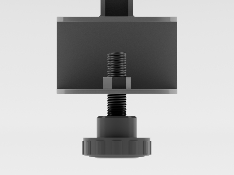 Worksurface Mount Bracket | Front Facing (Front View)