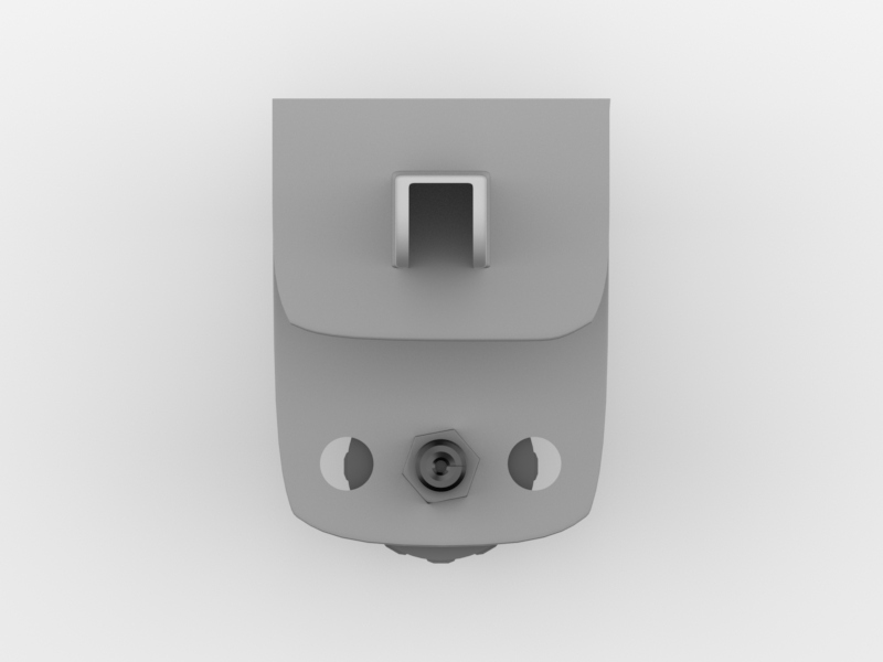 Worksurface Mount Bracket | Front Facing (Top View)