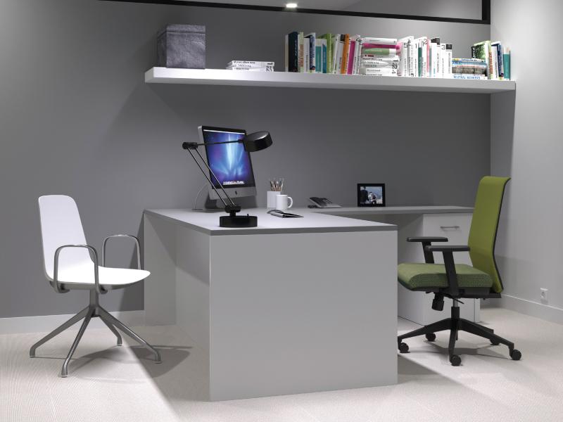 Sofie (White)   Lucky Task Chair (Avocado)