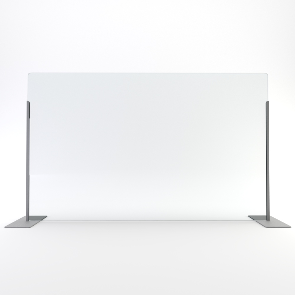 Transaction Top Screen  |  Silver Brackets  |  Clear Acrylic