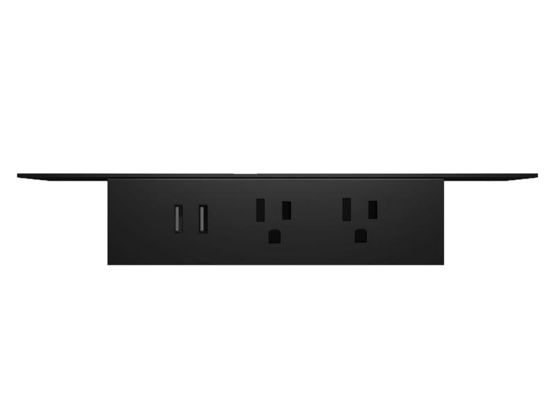Undermount power unit in black