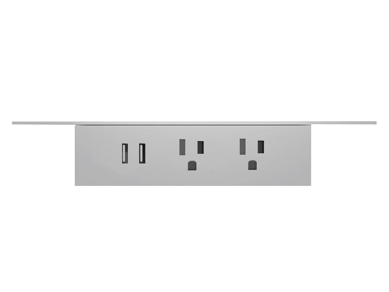 Undermount power unit in white