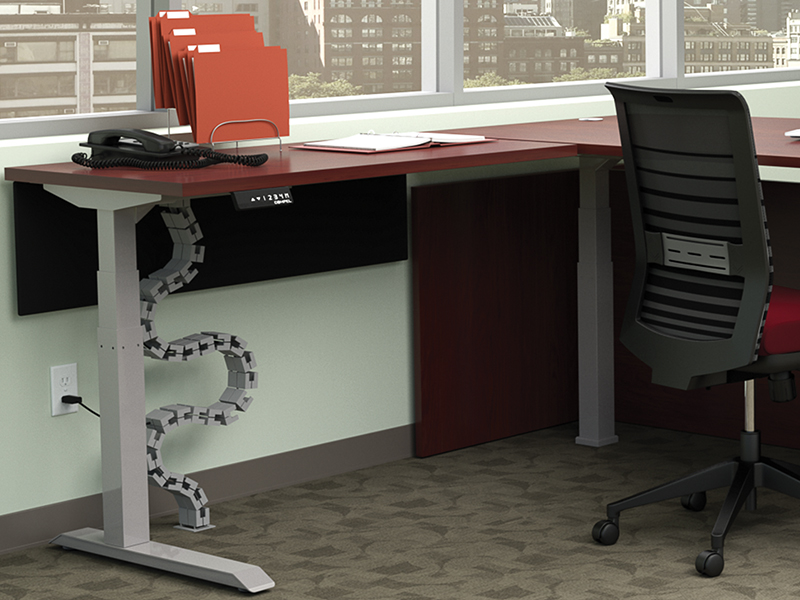 Vertebrae Wire Management | HiLo Height Adjustable Table | Lucky Task Seating